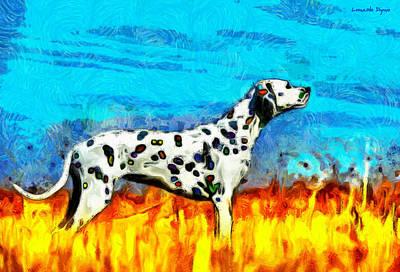 Cub Painting - Colorful Dalmatian 600 - Da by Leonardo Digenio