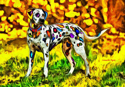Cub Painting - Colorful Dalmatian 800 - Pa by Leonardo Digenio