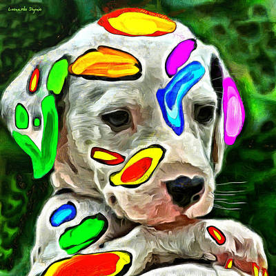 And Painting - Colorful Dalmatian Baby 10 - Pa by Leonardo Digenio