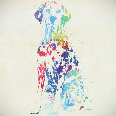 Painting - Colorful Dalmatian by Dan Sproul