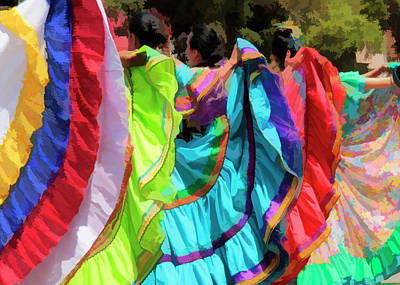 Colorful Dancers 1 Art Print by Pauline Darrow