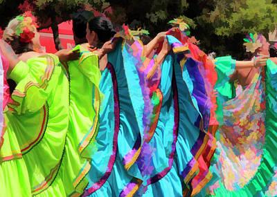 Colorful Dancers 2 Art Print by Pauline Darrow