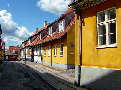 Photograph - Colorful Danish Houses by Anthony Dezenzio