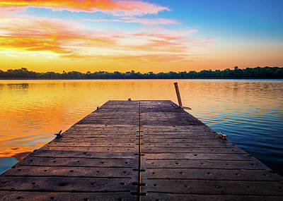 Photograph - Colorful Dawn On The Lake by Dan Sproul
