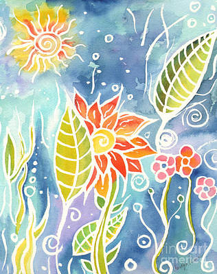 Painting - Colorful Day by Carolyn Weir