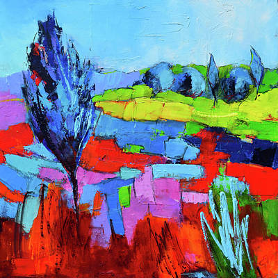 Painting - Colorful Field by Elise Palmigiani