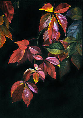 Painting - Colorful Death by Jette Van der Lende