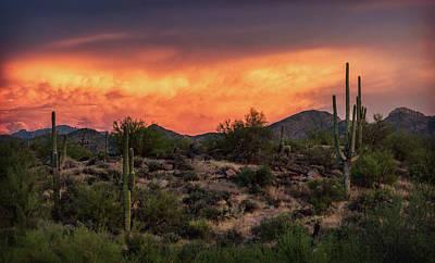 Art Print featuring the photograph Colorful Desert Skies At Sunset  by Saija Lehtonen
