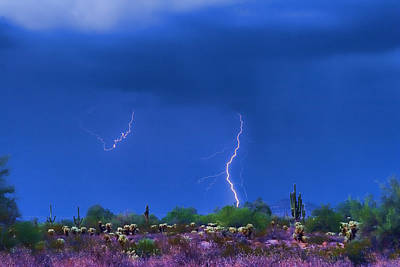 Lightning Images Photograph - Colorful Desert Storm by James BO  Insogna