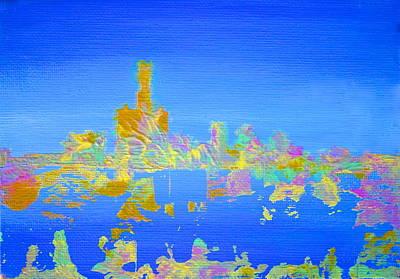 Painting - Colorful Detroit Skyline by Danielle Allard
