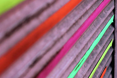Photograph - Colorful Diagonal Lines by Prakash Ghai
