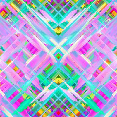 Colorful Digital Art Splashing G473 Original