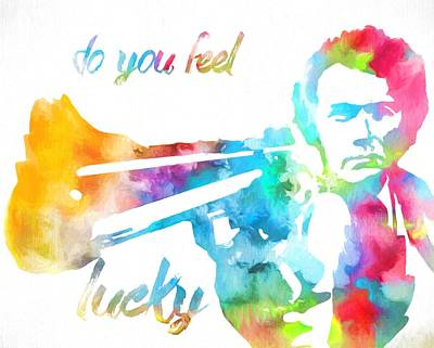 Lucky Mixed Media - Colorful Dirty Harry by Dan Sproul