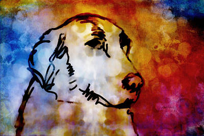 Labrador Digital Art - Colorful Dog Art  by Ann Powell
