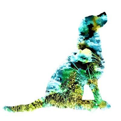 Retrievers Digital Art - Colorful Dog Art  by Diana Van