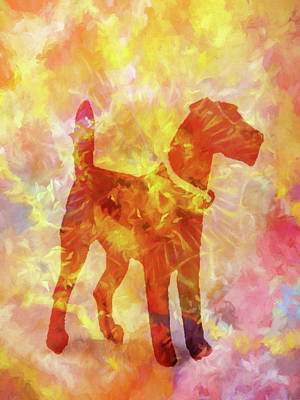 Painting - Colorful Dog by Lutz Baar