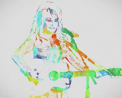 Colorful Dolly Parton Art Print