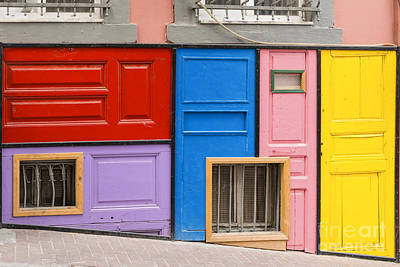 Colorful Doors Art Print by Bob Phillips
