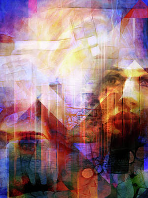 Abstract Digital Digital Art - Colorful Drama Vision by Lutz Baar