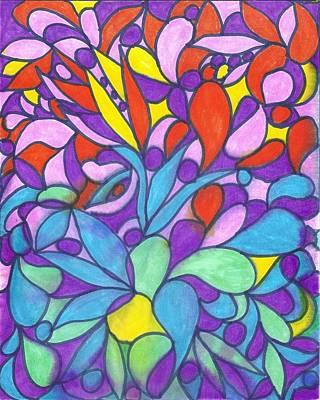 Mixed Media - Colorful Dream I by Wayne Potrafka