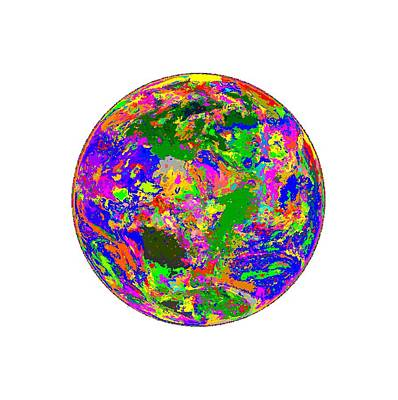 Painting - Colorful Earth by Samuel Majcen