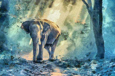Painting - Colorful Elephant Art Painting by Wall Art Prints