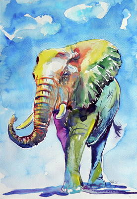 Painting - Colorful Elephant In Big by Kovacs Anna Brigitta