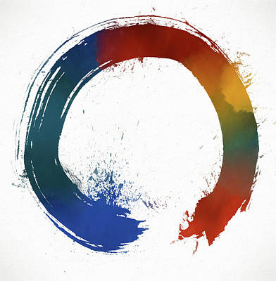 The Universe Painting - Colorful Enso by Dan Sproul