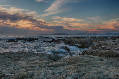 Pacific Grove Photograph - Colorful Evening Sky by Bill Roberts