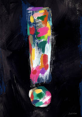 Outsider Painting - Colorful Exclamation Point- Art By Linda Woods by Linda Woods