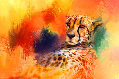 Photograph - Colorful Expressions Cheetah by Jai Johnson