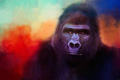 Photograph - Colorful Expressions Gorilla by Jai Johnson