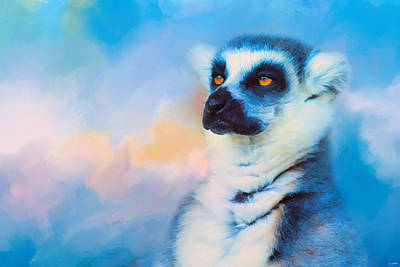Ring Tailed Lemurs Photograph - Colorful Expressions Lemur by Jai Johnson
