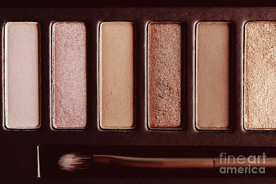 Colorful Eye Shadow Palette Makeup Products Art Print