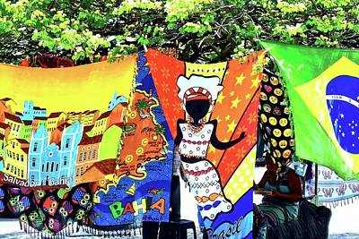Photograph - Colorful Fabrics For Sale In Salvador by Kirsten Giving