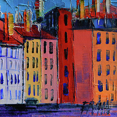 Rooftops Painting - Colorful Facades by Mona Edulesco
