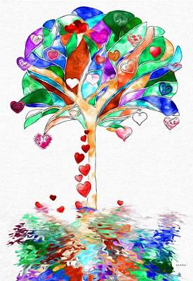 Painting - Colorful Fantasy Tree  by Gabriella Weninger - David