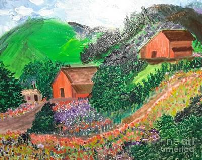 Colorful Farm Original by Cindy  Riley