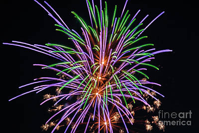 Photograph - Colorful Fireworks by Robert Bales