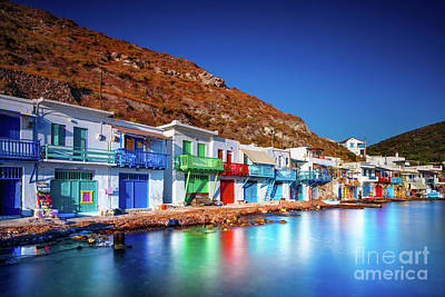 Photograph - Colorful Fisherman Houses, Greece by Anna Om