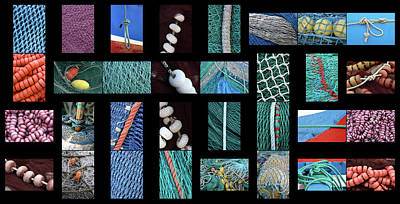 Net Photograph - Colorful Fishing Nets by Frank Tschakert