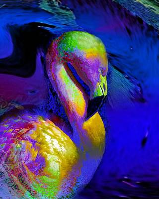 Digital Art - Colorful Flamingo   by Doris Wood
