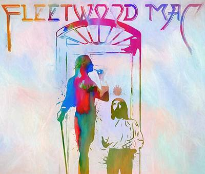 Music Paintings - Colorful Fleetwood Mac Cover by Dan Sproul