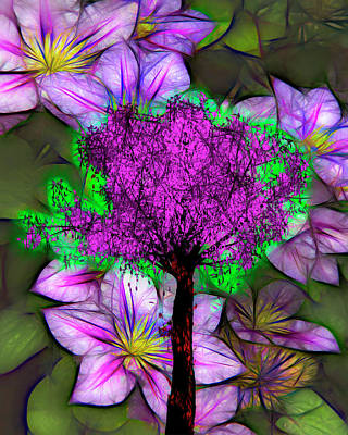Photograph - Colorful Floral Art Digital Painting by Debra and Dave Vanderlaan