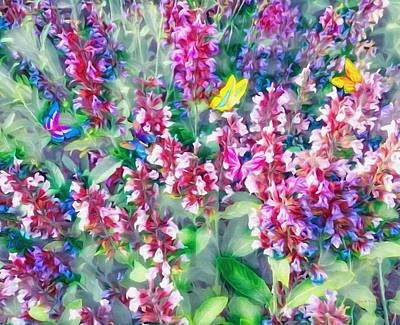 Mixed Media - Colorful Floral Mix by Gabriella Weninger - David