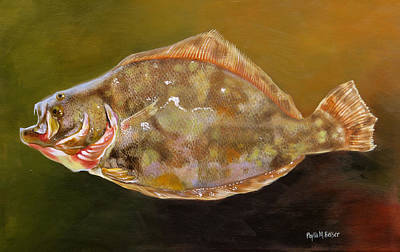 Painting - Colorful Flounder by Phyllis Beiser