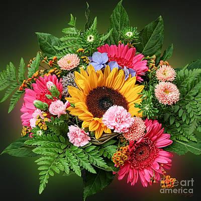 Photograph - Colorful Flower Arrangement by Gabriele Pomykaj