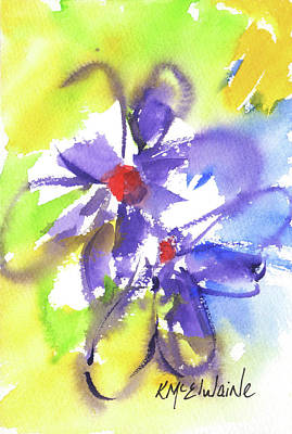 Painting - Colorful Flower by Kathleen McElwaine