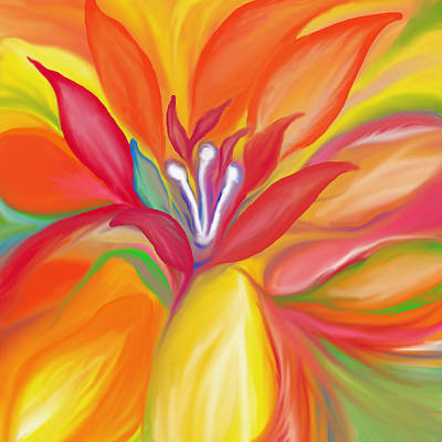 Concept Painting - Colorful Flower by Art Spectrum
