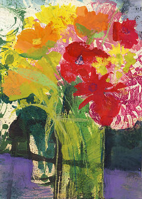 Painting - Colorful Flower Still Life  by Martin Stankewitz